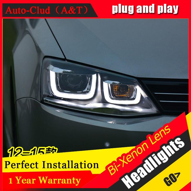 car styling For VW Jetta headlights U angel eyes 2012-2015 For Sagitar xenon lens h7 xenon car styling for vw jetta headlights u angel eyes 2012 2017 for sagitar bi xenon double lens hid