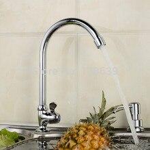 Латунь хром современный кухня faucets, Смеситель на борт ванны один холодная один рычаг кухня умывальник затычка вода, Torneira cozinha