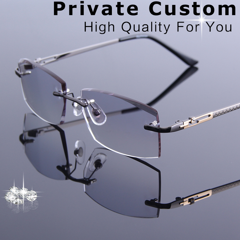 Metal Frames Rimless Glasses Korean For Men Eyeglasses Luxury Male Myopia\Hyperopia Spectacle Prescription Computer Eye Glasses