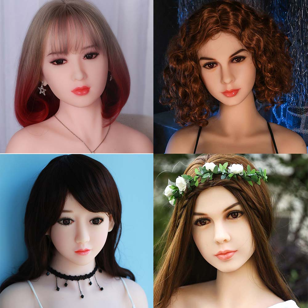 HDK Sex Dolls Head Height for 140cm~170cm Real silicone Love Doll Heads With Oral New Sex Toys For Men real doll heads цена