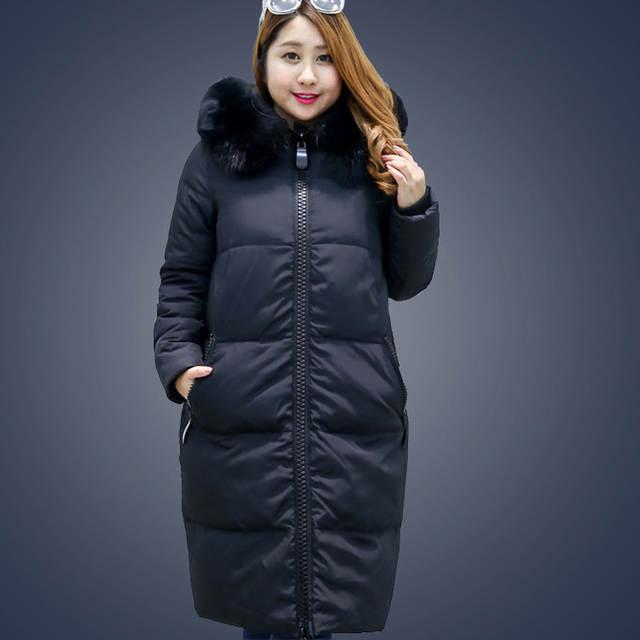da57a164dd3 Women Duck Down Coat Jacket Extra Large Plus Size Parka with Faux Fur Hood  Black Grey Pink 2XL 3XL 4XL 5XL 6XL 7XL 8XL 9XL 10XL