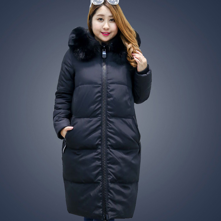 Women Duck Down <font><b>Coat</b></font> Jacket Extra Large Plus Size Parka with Faux Fur Hood Black Grey Pink 2XL 3XL 4XL 5XL 6XL <font><b>7XL</b></font> 8XL 9XL 10XL image