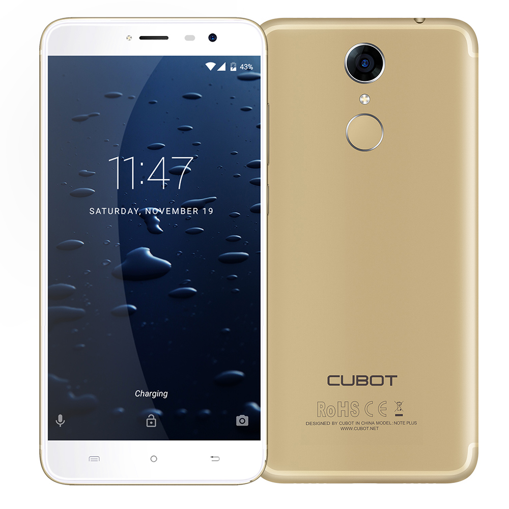 Cubot Note Plus Original 4G Smartphone 5 2 Inch Android 7 0 MTK6737T Quad Core 3GB