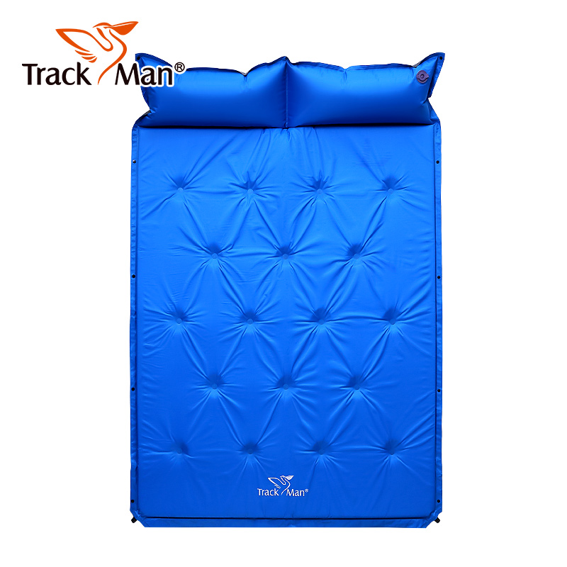 2 Person Portable Self Inflating Air Camping Mat For Beach Esterilla Camping Picnic Pillow Pvc Sleeping Pad Mat Camping-in Camping Mat from Sports & Entertainment    1