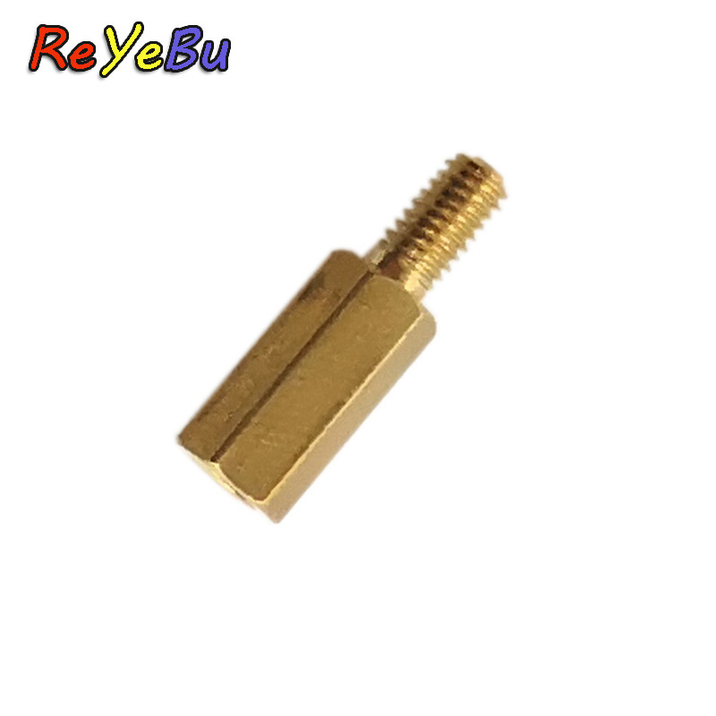 50pcs/lot M3*10+6 Copper Pillars M3 10 Mm Height (Not Include Thread) / 6 Mm Thread(China)