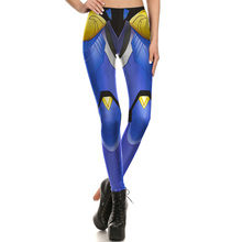 1676 Fitness Elastic Women Leggings Sexy Girl Polyester Slim Fit Workout Pants Trousers Blizzard Game OW Pharah Cosplay Printed