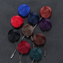 New Hot Classic Handmade Cloth Cute Rose Brooch Pins For Women and Men Fashion Men's Suit Accessories Many Colors for Choose
