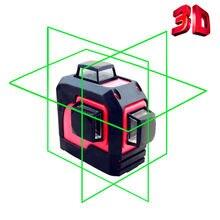 LETER 3D Green Laser Level Self Leveling 360 Degree Horizontal&Vertical Cross