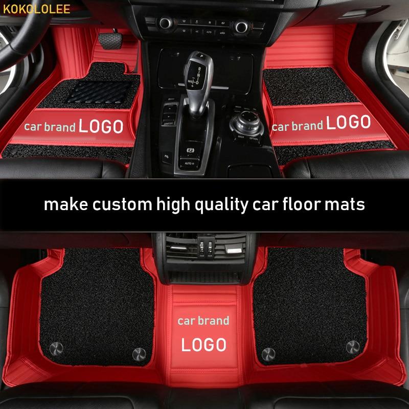 Tapis de sol de voiture sur mesure kokolololee pour BentleyMotors LOGO Bentley limitée Mulsanne Continental GT accessoires auto