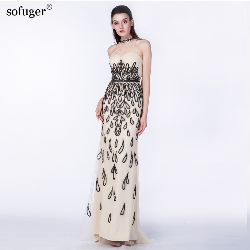 New arrival Sleeveless Sweetheart Floor-Length Appliques Chorker Mermaid Long Elegant Evening Dresses Customized vestido de fes