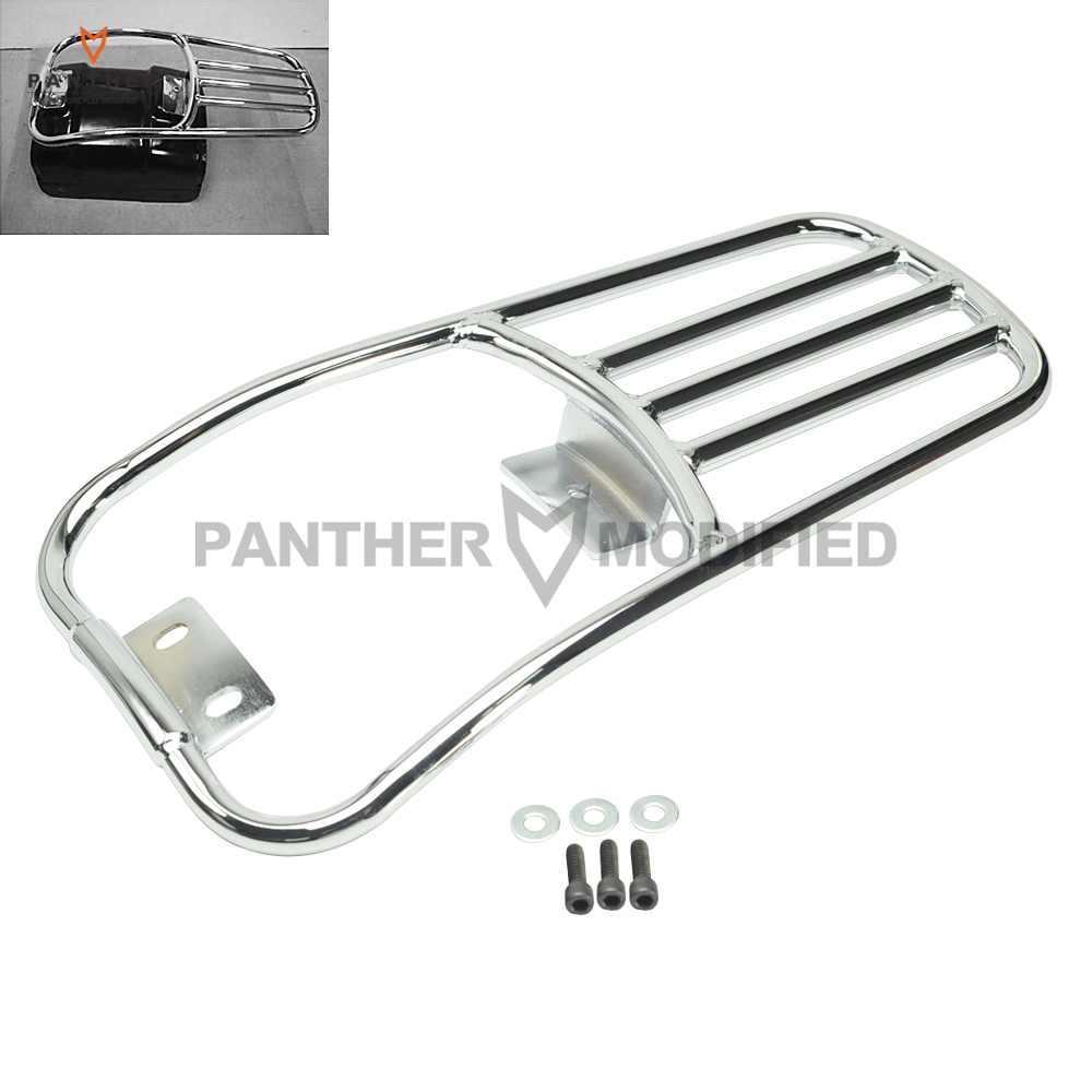 Chrome Motorcycle Rear Fender Luggage Rack Moto Rear mounting Kit case for Harley Softail Deluxe 2006-2016 Fatboy 2007-2016 motorcycle detachables solo luggage rack moto rear decoration mounting case for harley sportster xl1200 xl883 2004 2005 2017