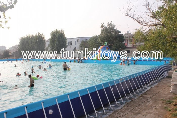 6 3 metal frame swimming pool for backyard square for Swimmingpool 3m