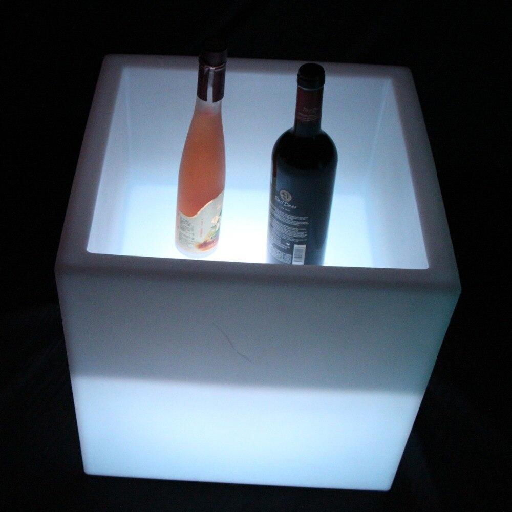 シャンパンバケット D40cm ユニークなライトアップ LED アイスバケット/led ワインクーラーアイスバケット送料無料 10 ピース