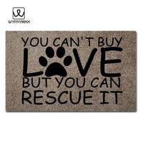 You Can't Buy Love But You Can Rescue It design doormat for entrance door Funny Front indoor rug mat non slip 18 x 30 door mat
