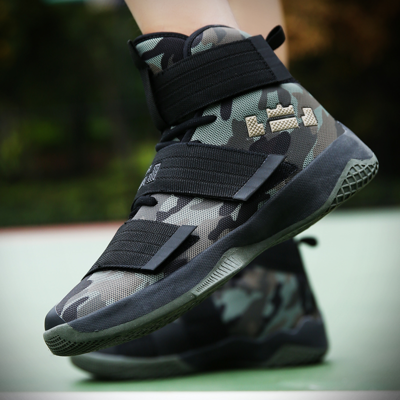 2019 Basketball Shoes For Men Zapatos Hombre Ultra Green Camouflage Basket Homme Shoes Bo'o't's Unisex Star Sneakers Ball Super(China)