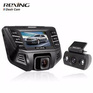 Rexing s500, 1080p + 480 p câmera dupla, câmera do carro dvr traço cam, grande angular, visão noturna, g-sensor wdr, conector livre