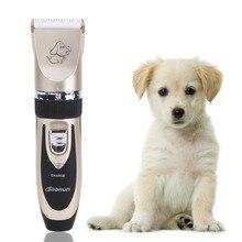 Профессиональный Набор для Ухода Titanium Керамические Аккумуляторная Pet Cat Собак Триммер Волос Электрический Clipper Бритвы Набор Стрижка Машина