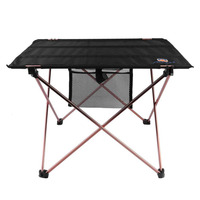 Outdoor Folding Table Aluminium Alloy Picnic Camping Desk Table Roll Up Durable Waterproof Lightweight With Carrying