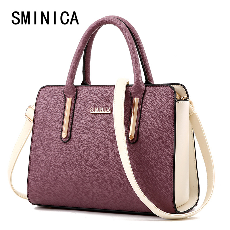 leisure women leather handbags famous brands big shoulder bags ladies handbag  female messenger tote bolsos top-handle bag 4S104