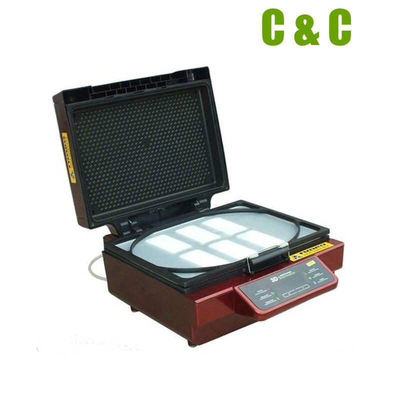 Tamanho de vidro 30x42x11 cm da impressão da caixa do telefone canecas da sublimação da transferência da máquina da imprensa térmica da sublimação do vácuo 3d multi funcional - 2