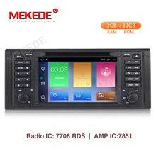 MEKEDE 2G Android 9,1 1 Автомобильный dvd-плейер din для bmw e53 E39 X5 с gps Bluetooth Radio RDS USB SD Рулевое управление