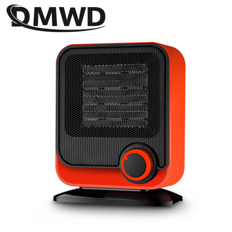 DMWD Portable Personal Heater Electric Winter Mini desktop Warm heating Fan Heater hot air warmer Home Appliance 220V EU US plug dmwd mini portable fan heater hand electric air warmer heating winter keep warm desk fan for office home 50w overheat protection