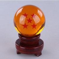 Anime Dragon Ball Crystal Balls Wood Base Esferas Del Dragon For 4.5 Or 3.5cm Balls Esferas Do Dragao Rotatable Decoration Case