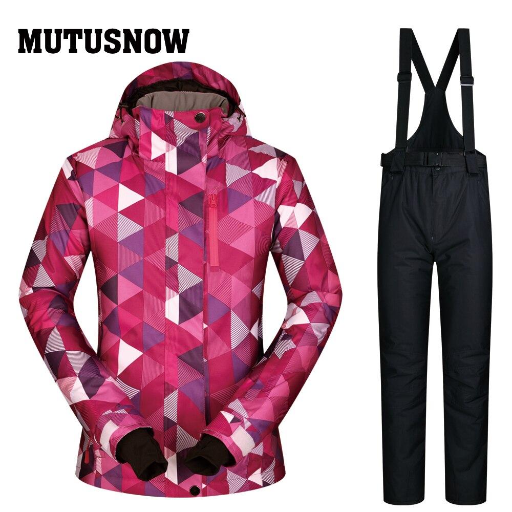 Combinaison de Ski Femmes 2018 Neuf de Haute Qualité de Ski Vestes Et Pantalons ensembles Épais Chaud et Imperméable Coupe-Vent D'hiver Snowboard féminin Costumes