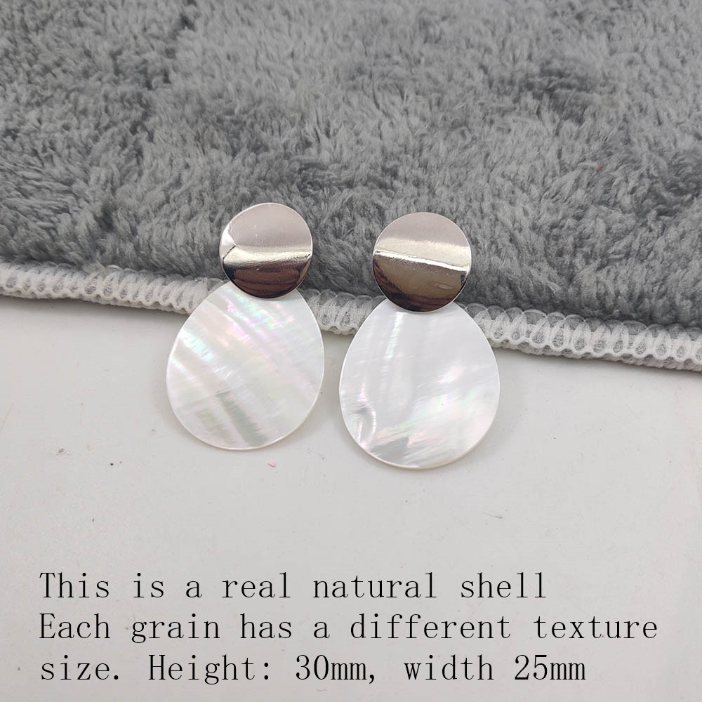 Fashion Wedding Jewelry Hanging Natural Shell Pearl Geometric Earrings High Quality Natural Shell Pendant Earrings for women P40 34