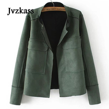 Jvzkass 2018 New Spring Large Size Womens Short Jacket Loose Thin Simple Style jacket coat Z136