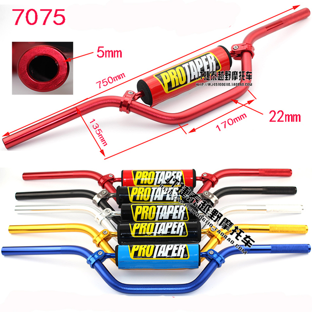 Pro Taper Handlebars >> Dirt Pit Bike Parts Protaper Handlebar Pad 7075 Aluminum Alloy