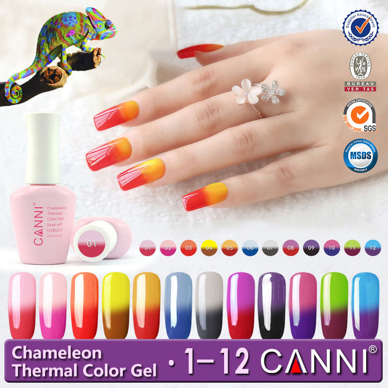 50423 CANNI Nail Art Temperature Change Color Gel Polish,Thermal Gel ...