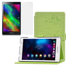 1x Clear Screen Protector , Printing Pattern Folio Stand Cover Protective Flower Leather Case For Lenovo Tab 2 Tab2 A8-50F/LC