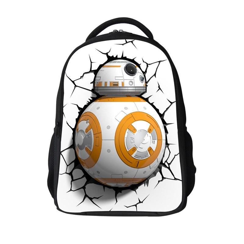 16 polegada popular saco bb8 escola mochilas dos desenhos animados
