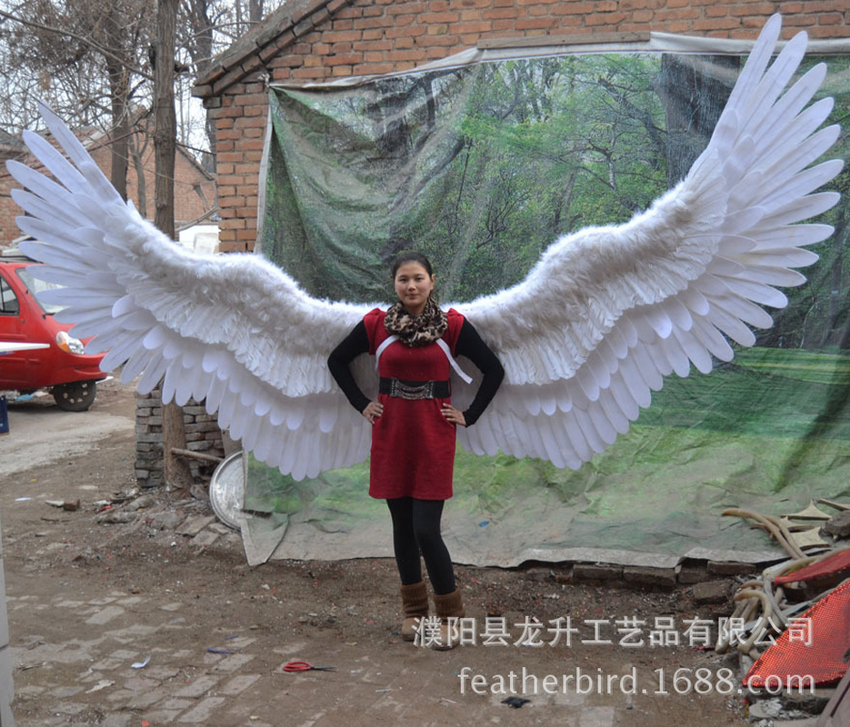 Large stage props wings shooting props store decoration angel wings holiday party decoration-in Party DIY Decorations from Home & Garden    1