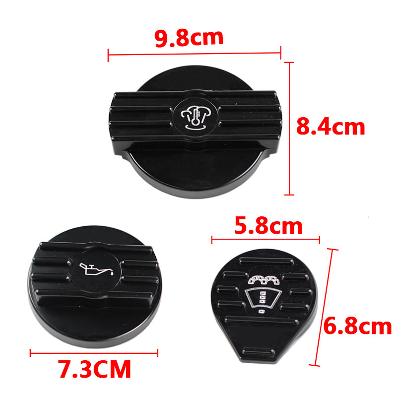 Aluminum Black Oil Filler Cap Coolant Cap Water Tank Cover for audi VW CC golf 6 GTI R MK6 Scirocco EA888 RS3-CAP010