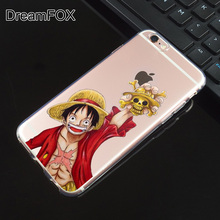 One Piece Soft TPU Silicone  Case Cover iPhone X 8 7 6 6S Plus 5 5S SE 5C 4 4S
