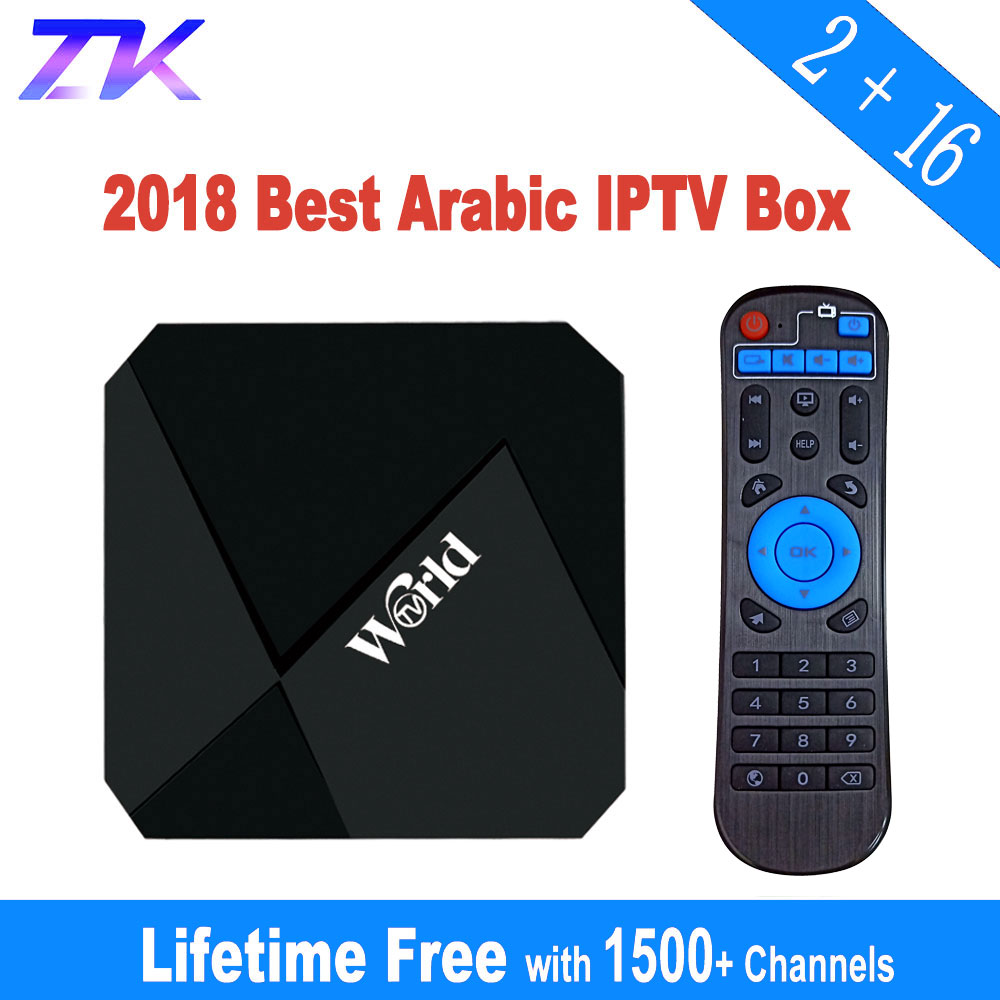 IPTV Box Free Lifetime IPTV Subscription No Monthly Fee 1400 Channels 2G 16G Smart Android 7