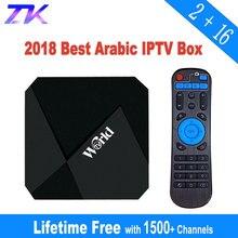 IP ТВ коробка Бесплатная срок службы IP ТВ подписки без абонентской платы 1400 + Каналы 2 г 16 г Smart Android 7,1 ТВ приставка арабский IPTV Бесплатная навсегда