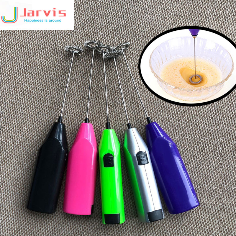 Mini Creative  Handle Electric Milk Frother Foamer Drink Coffee Whisk Mixer Egg Beater Stirrer Eggs Tool Kitchen Cooking Tools