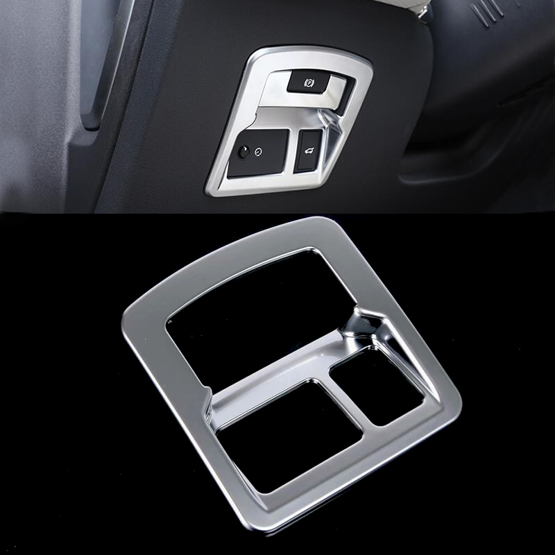 ABS Chrome Matt Silver Rear Trunk Switch Plate Frame Cover Trim For Land Rover Range Rover Velar 2018 Tail Door Switch Cover