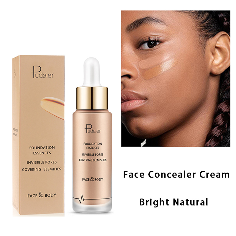 Pudaier Moisturizer Perfect Cover Face Concealer Cream Brighten Facial Contour Corrector Foundation Makeup Liquid Concealer