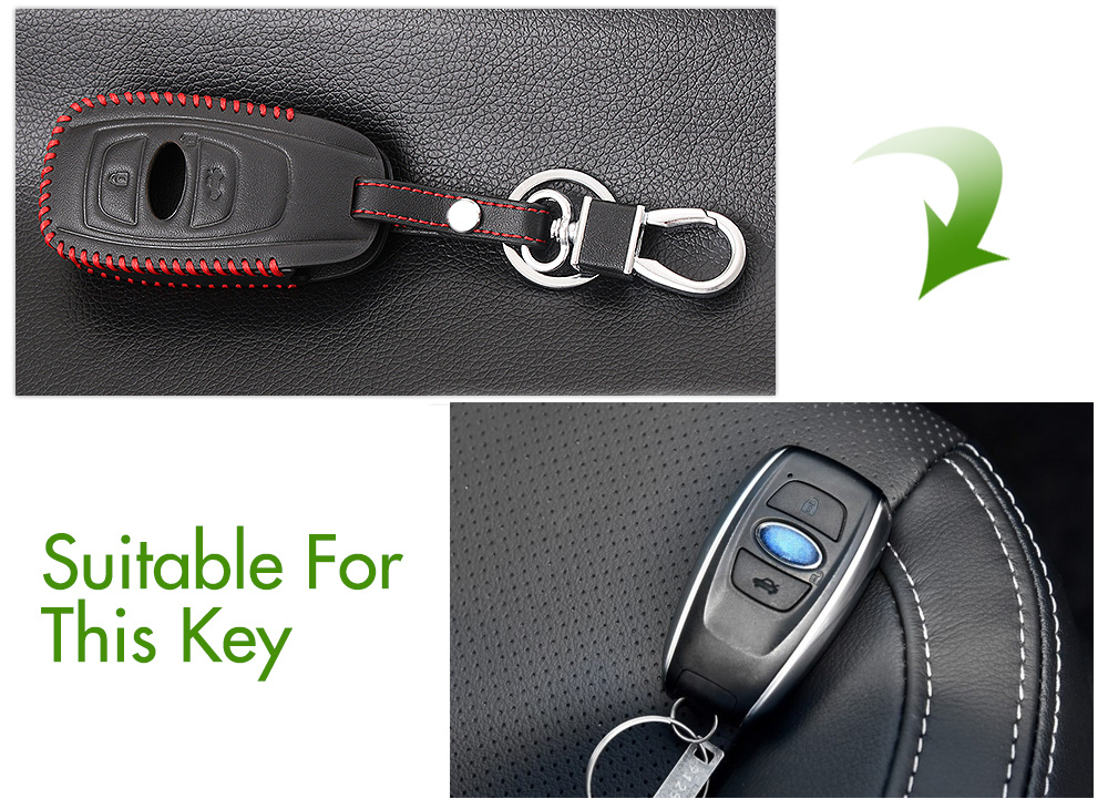Xv Key Fob Impreza Outback Genuine Leather New Subaru Key Ring Forester