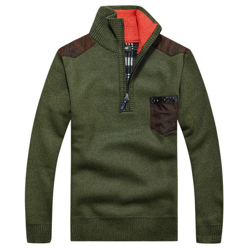 2823f7bed6b Перевозка груза падения Мужчины Военный свитер трикотажные пуловеры homme  зимние повседневные Пиджаки M-3XL XP24