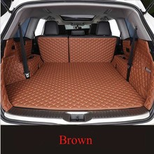NEW For Hyundai Genesis Sedan 2015 Car Floor Trunk Carpet Rugs Mats Waterproof Automobile Accessories Custom Cargo Liner