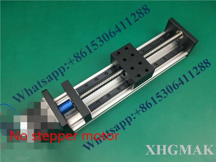 Alta Precisão GX80 * 50 Ballscrew 1204 100mm-300mm Curso Eficaz SEM Nema 23 Fase Do Motor CNC Linear Motion Linear Moulde