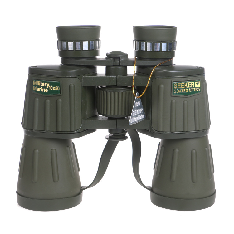 Binoculars 10X50 Professional Telescope Tactical Powerful Binocular Germany Military Lll Night Vision HD Bak4 Scope for Hunting stainless steel bike cross spoke wrench nipple tool silver