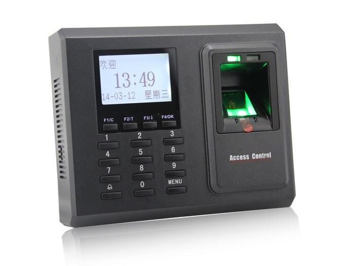 Contrôle d'accès de porte de contrôle d'accès d'empreinte digitale de F2 tcp/ip avec le lecteur de présence de temps lecteur de carte facultatif