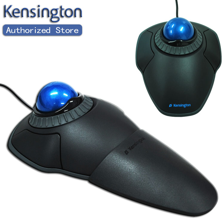 Kensington Original Orbit Trackball Mouse with Scroll Ring Optical USB for PC or Mac K72337 with