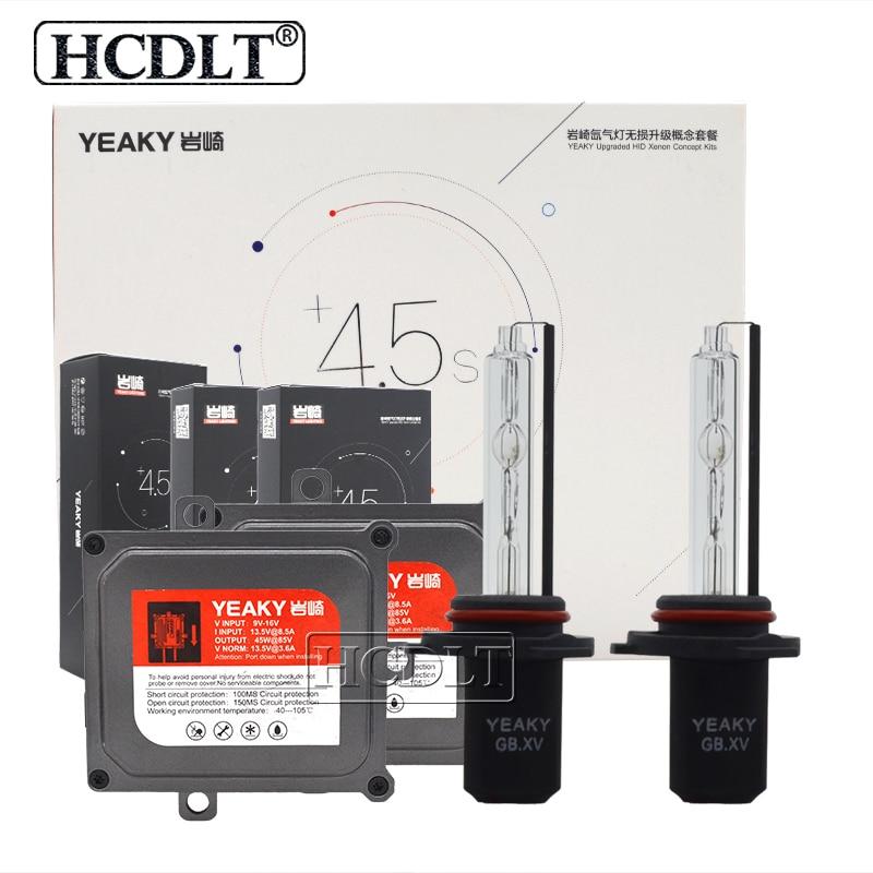 HCDLT Ultra Bright 45W 5500K Yeaky Bulb HID Kit Xenon H1 H11 HB3 9006 HB4 9006 H7 Car Light Xenon Yeaky Fast Bright Ballast Kit